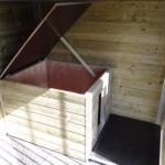 Niche au chenil avec toit en charnière