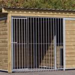 Enclos pour chien Forz avec niche isolée pour l'hiver, plate-forme et cadre en bois