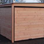 Chenil Forz 3x2 en bois de Douglas et panneaux noirs