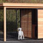 Chenil Fix est disponible avec ou sans niche pour chien