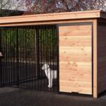 Chenil pour chien avec compartiment oú vous pouvez mettre une plate-forme ou une niche