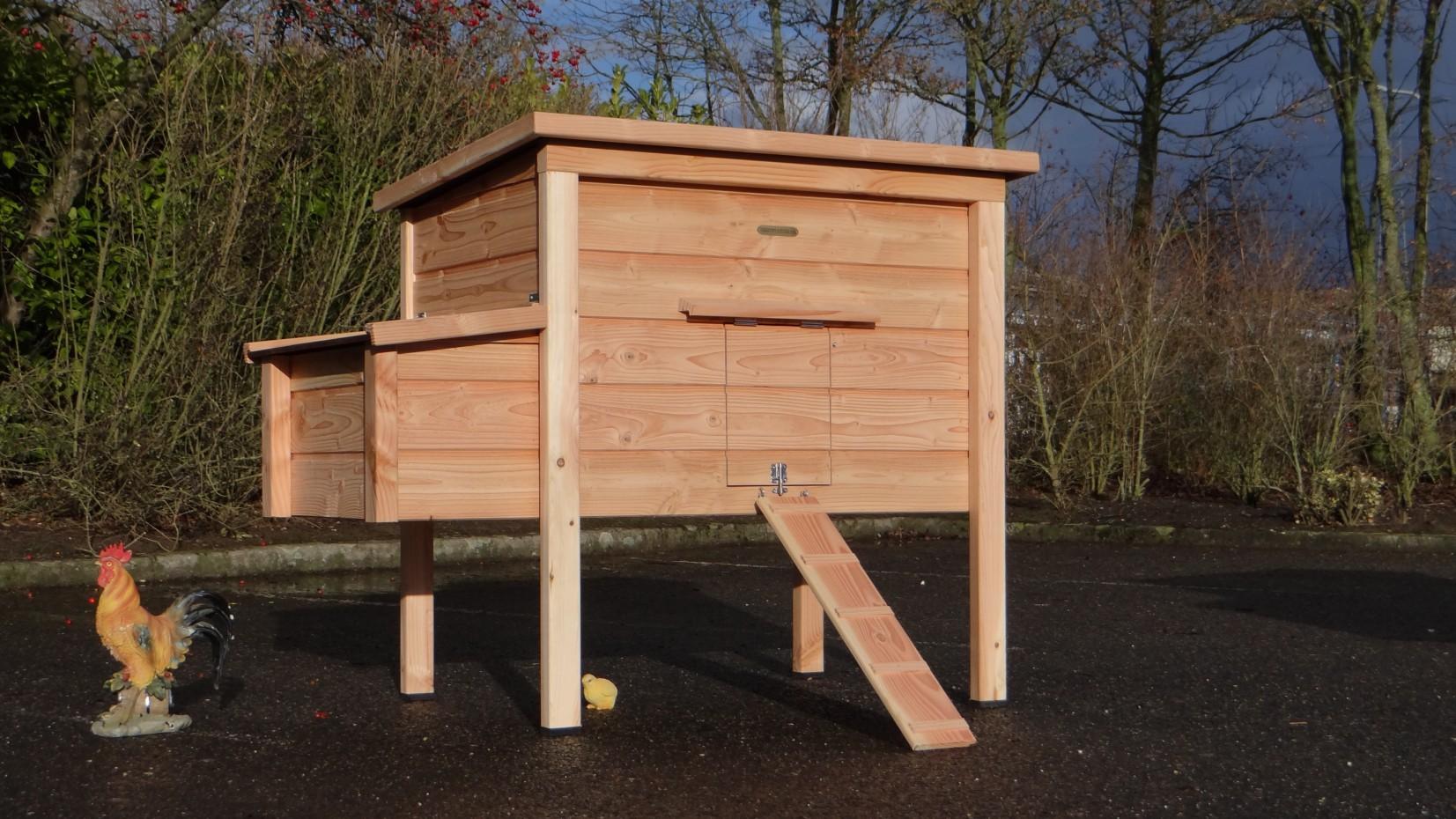 poulailler chicky 2 en bois de douglas. Black Bedroom Furniture Sets. Home Design Ideas