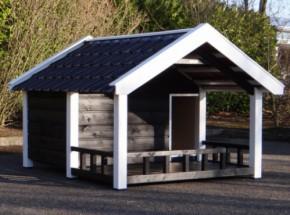 Niche pour chien Snuf avec veranda 188x223x144cm