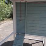 Porte coulissante du poulailler