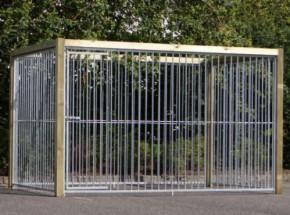 Chenil pour chien avec cadre en bois 3x2 m