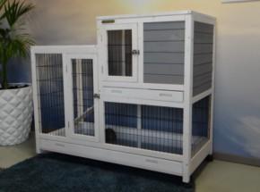 Cage pour lapin Esmee White-Grey