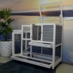 Cage intérieure pour lapin Esmee - Une toit en charnière, des tiroirs et des grandes portes