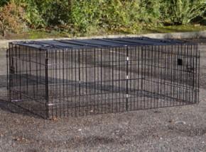 Enclos Maik | Cage noire pour l'extérieur | 123x80x47cm