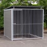 WPC Chenil pour chien avec toit 2x2 m.