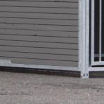 WPC chenil pour chien double