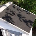 Clapier avec toit bitumé