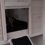 Clapier en bois blanc avec nichoir verrouillable