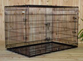 grande cage pour chien xxl avec 3 portes. Black Bedroom Furniture Sets. Home Design Ideas